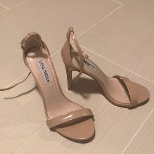 Steve Madden Nude Patent Stilettos, Size 6